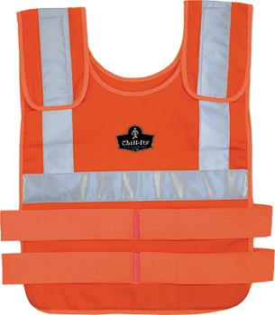 Cooling products, such as this Change Cooling Vest from Pryme, helps keep workers cooler, safer and more productive at a constant 14°C – regardless of the ambient air temperature.