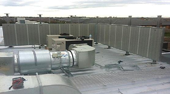 Buildings use rooftop space to house plant and equipment such as chillers and air-conditioning units.