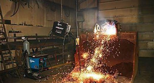 Air arc gouging – up to 140dB. In this project before treatment levels were 109dB.