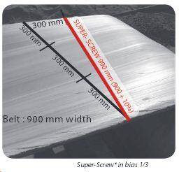 Selecting the correct Super-Screw conveyor belt fastner