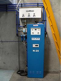Nitrogen generator used in contract food packaging plant