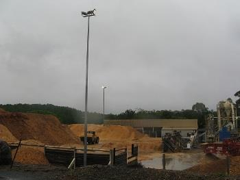 LED Floodlights at CHH Woodchip yard at Gympie