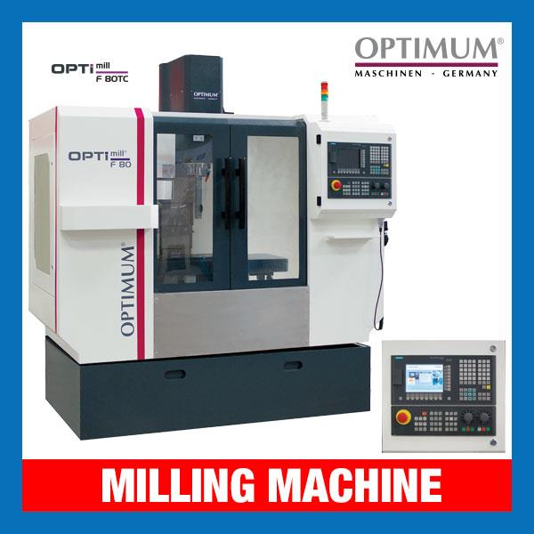 Opti-mill CNC Millling Machine | F 80TC |(415V) 800 x 260mm
