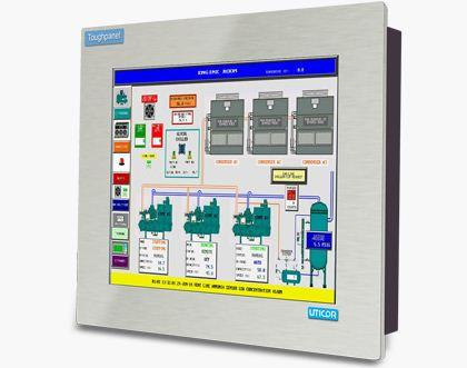 "HMI Operator Interface-Conformal Coated | Uticor 15"" Touch Plus™"