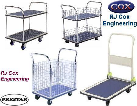 Prestar Platform Trolleys, Traymobiles & Worktainers