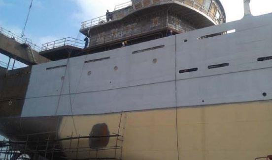 Metallisation equipment protects ships & trawlers from corrosion