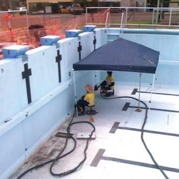 Council swimming pool re-levelled