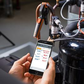 HVAC R mechanics can use smartphones to test refrigeration systems