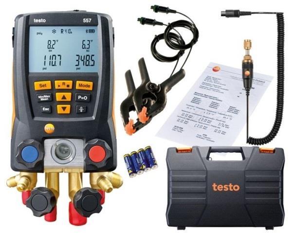 Digital Refrigeration Gauge with Vacuum Probe | testo 557