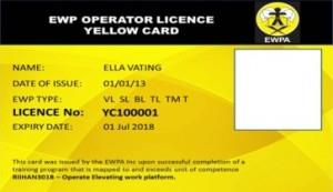 Duty of Care Cards | Yellow Card Training EWPA