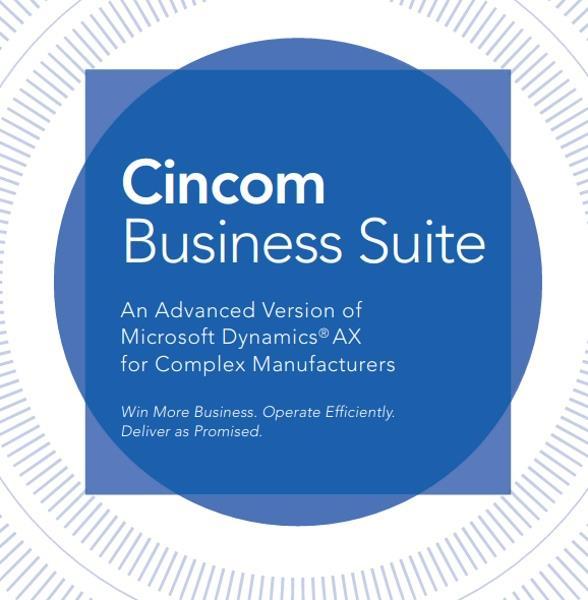 Cincom Manufacturing Business Suite | Advanced ERP