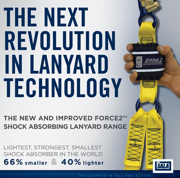 Force2™ Shock Absorbing Lanyard Range