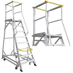 Bailey Walk-Thru Deluxe Order Picking Work Platform Mobile Ladder