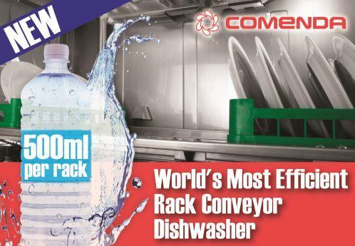 Rack Conveyor Dishwasher | World's Most Efficient | Comenda