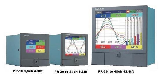 Paperless Recorder - Industrial Video Recorder - Brainchild PR10..30