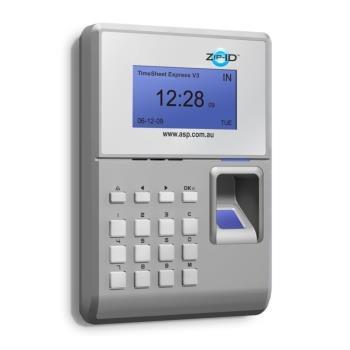 "Biometric / Contactless Card Time & Attendance Terminal - Zip-IDâ""¢"