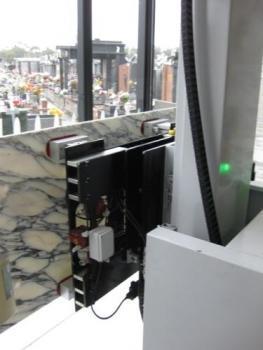 Battery Electric Mausoleum Shutter & Coffin Transfer Unit