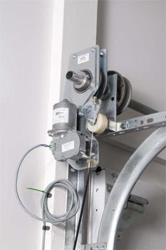 ZAP Torsion Shaft Mount DC Sectional Door Operator
